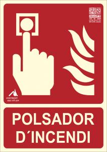 señal pulsador d'incendi